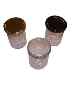 Glas 435 ml rund ca 500 g TO 82 i karton 12 stk